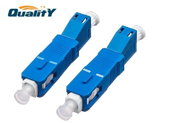 Blue Color Optical Fiber Conversion Adapter High Corrosion Resistance